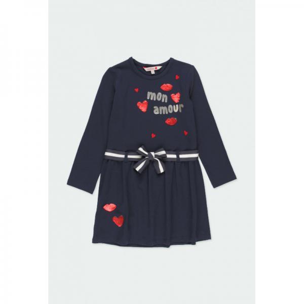 Dresowa sukienka z paskiem 451055 Boboli