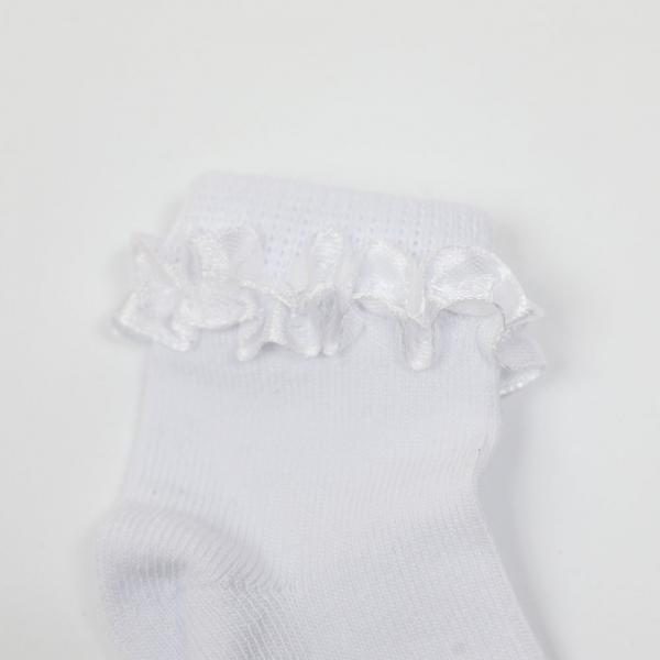 Białe skarpetki z falbanką Milusie Princessa