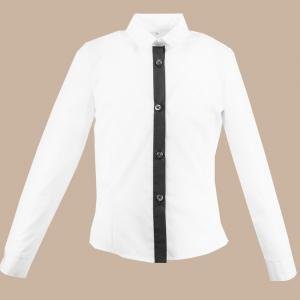 Bluzka Teja biel plus czarny