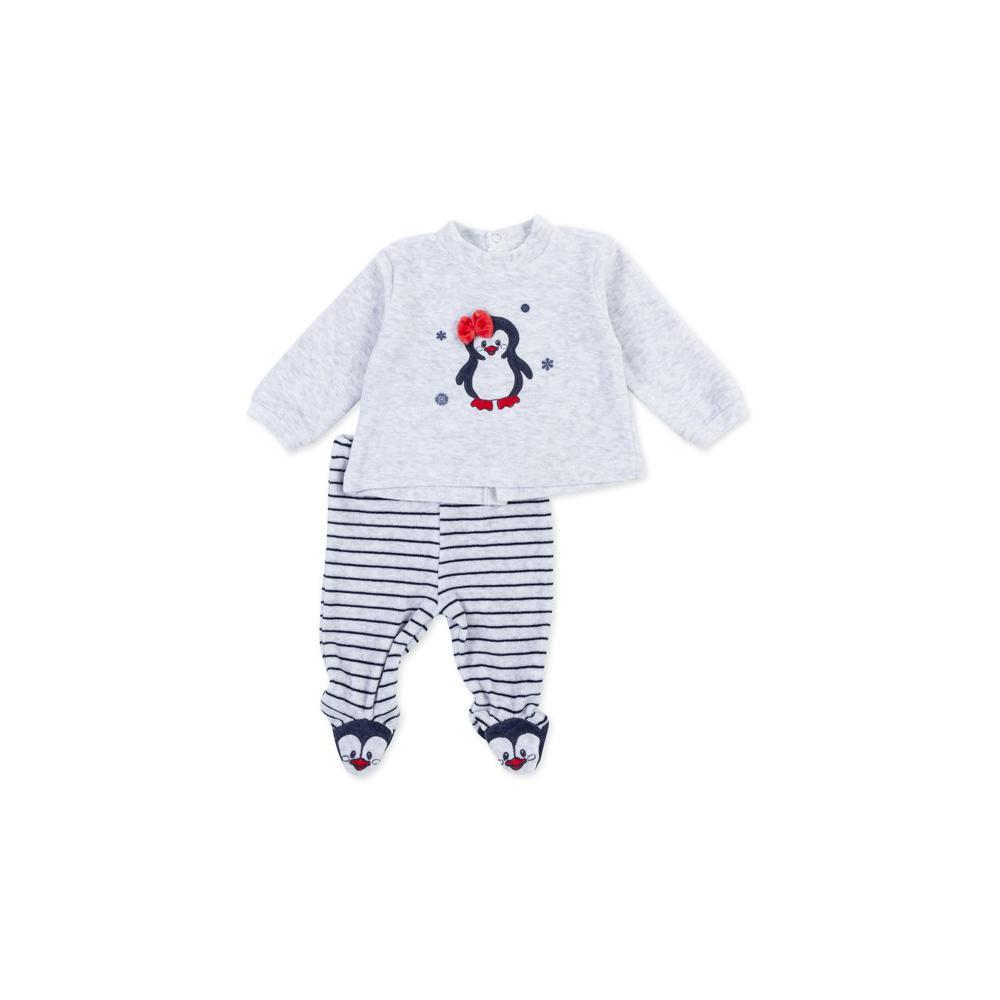 Komplet welurowy niemowlęcy Losan 72W-8030AD