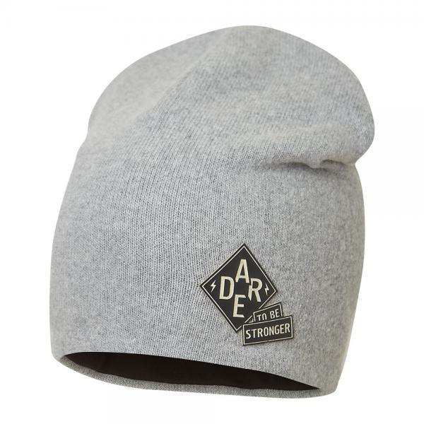 Szara czapka chłopięca Odyn 2 Broel