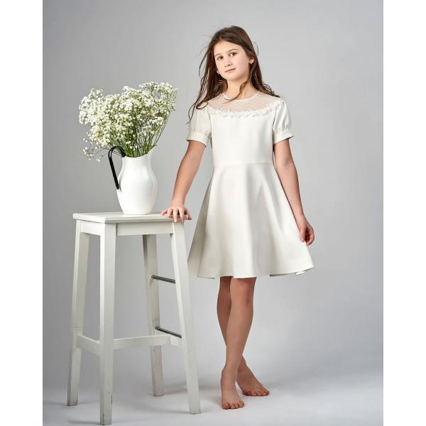 Kremowa sukienka po komunii Dalia Al-Da